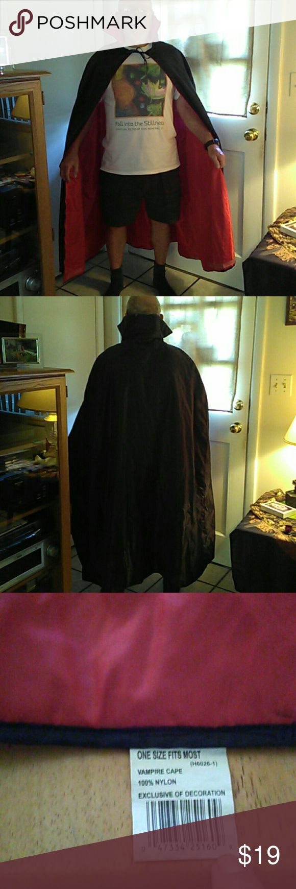 Vampire cape Use once. Nice fabric polyester feels like satin. costume Accessories