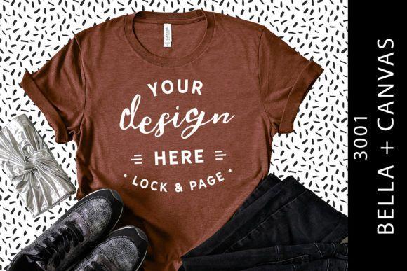 Download Heather Clay Bella Canvas 3001 Mockup Graphic By Lockandpage Creative Fabrica Shirt Mockup Tshirt Mockup Design Mockup Free