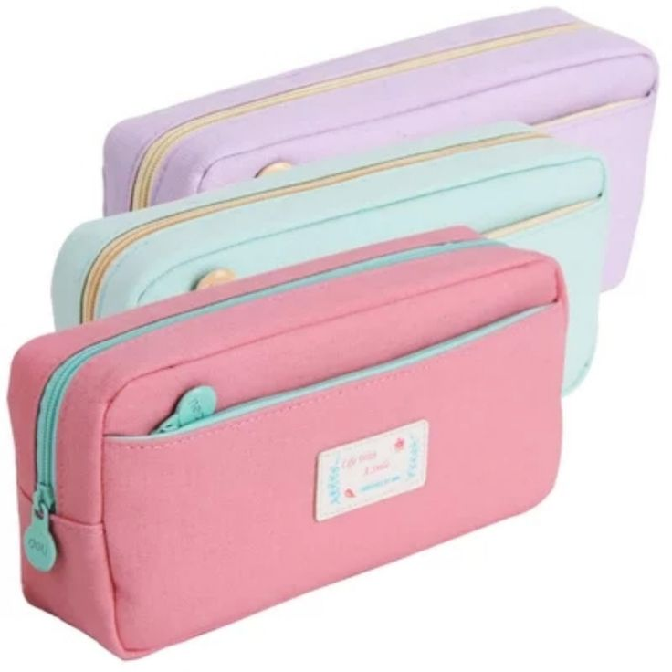 Pastel Dream Canvas Pencil Bag