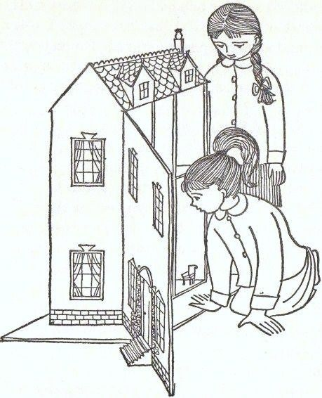 Line Art Dollhouse : The best images about doll house illistrations
