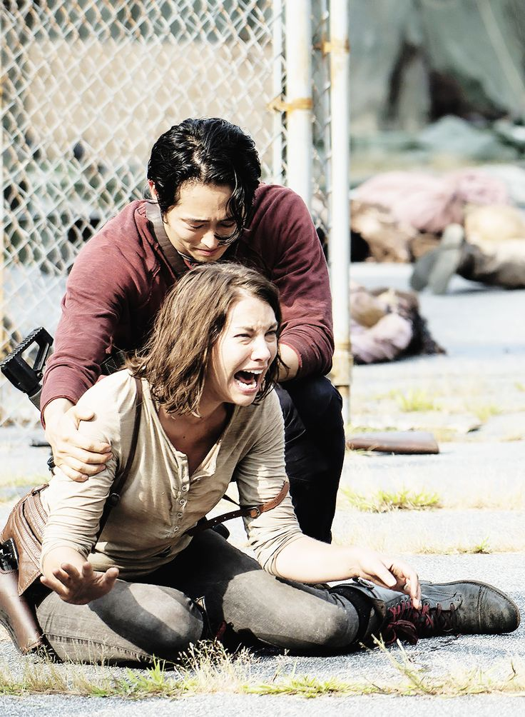 """cohan-gillies-addicted: """" """" Maggie and Glenn 5x08 - """"Coda"""" #RipBeth """" Photo Credit: Gene Page/AMC. To see all the Episode Stills in HQ visit our gallery. """""""
