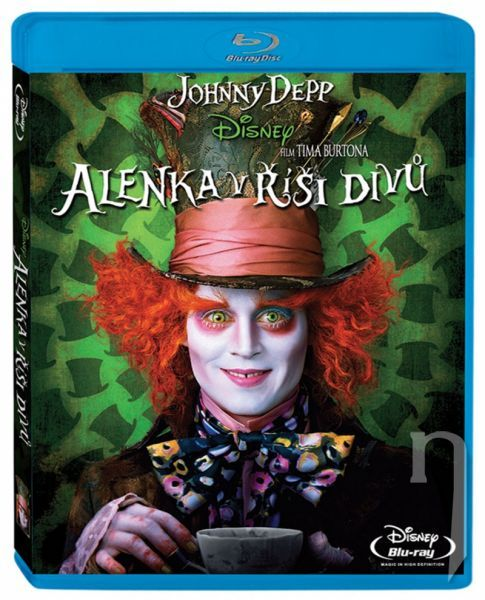 BLU-RAY Film ~ Alica v krajine zázrakov  ~ J. Depp, A. Hathaway, M. Sheen, M. Wasikowska