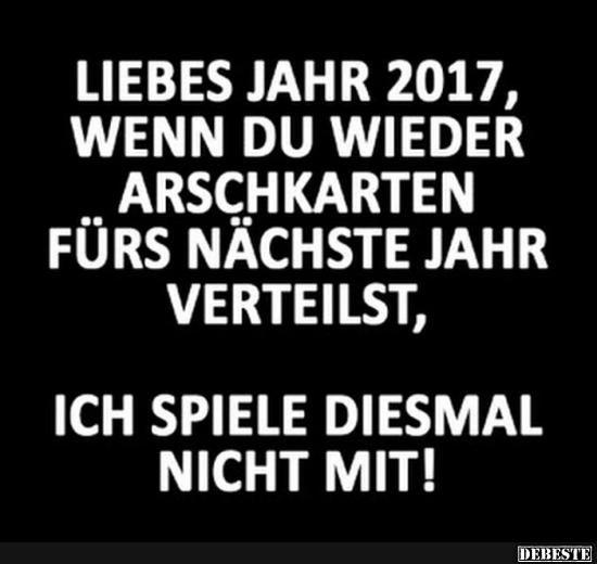 Liebes Jahr 2017..