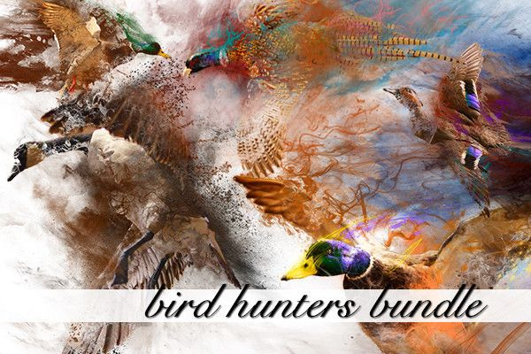 Bird Hunters Bundle  Add pheasant and duck effects to senior pictures in seconds and completely customize the colors and the look.  Great for Hunters!