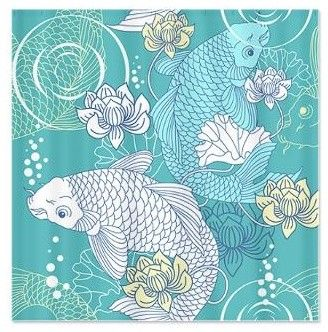 Koi Fish Shower Curtain eclectic paints stains and glazes