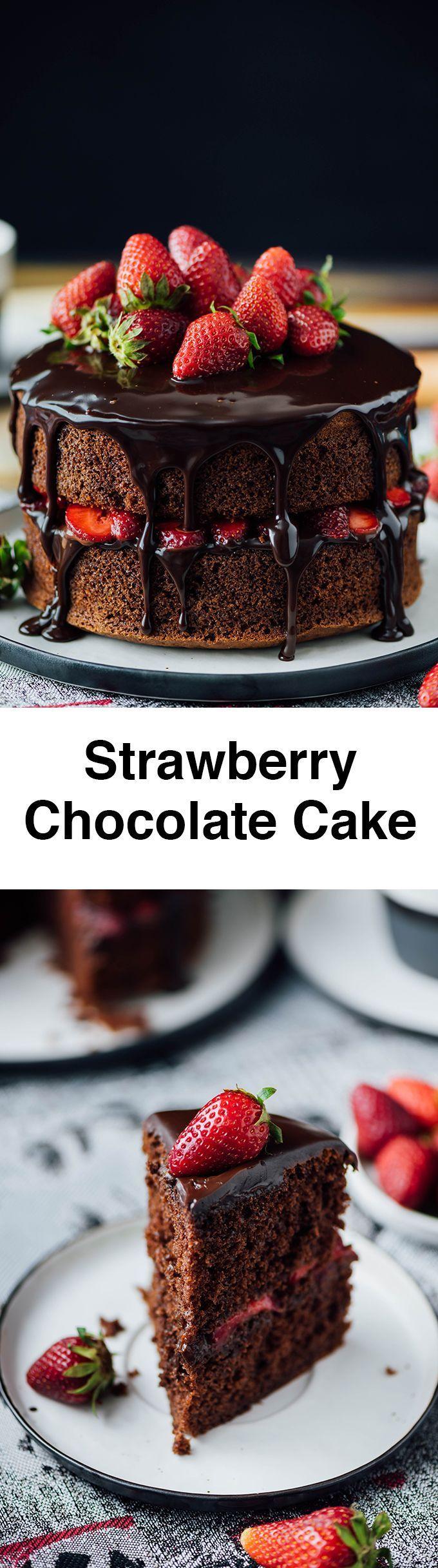 Best 20+ Strawberry chocolate cakes ideas on Pinterest | Chocolate ...