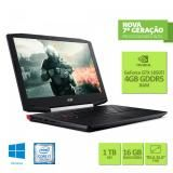 "Notebook Gamer Acer Aspire VX5-591G-78BF Intel Core i7 16GB 1TB GeForce GTX 1050TI  LED 15.6"" -"