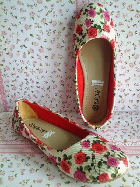Flat Shoes Red Rose