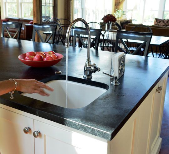 Check out Soapstone as an option   All About: Soapstone Countertops Countertop Spotlight | The Kitchn