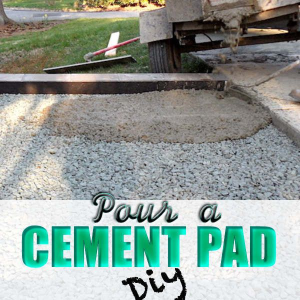 Pour A Cement Pad Diy Everything Karupped Diy Concrete Patio Poured Concrete Patio Concrete Slab Patio