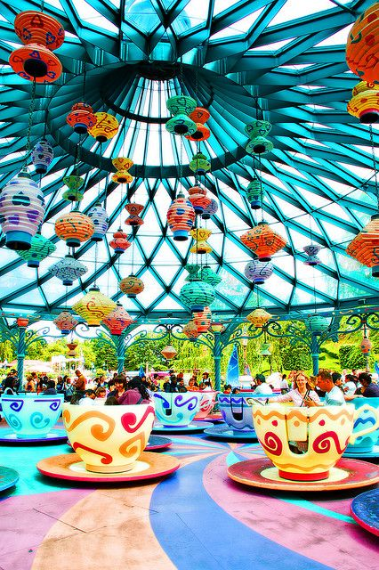 Awesome picture of the Mad Tea Party ride at Magic Kingdom!