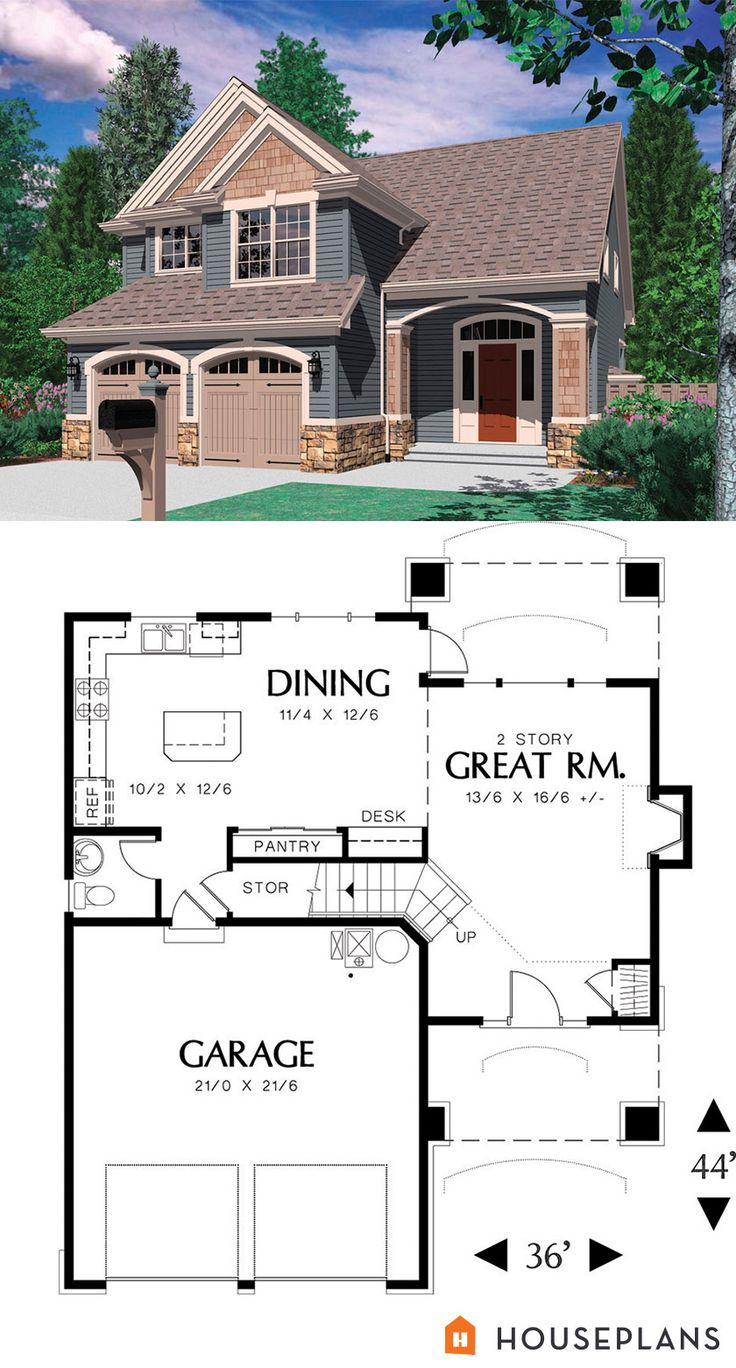 1500 sft traditional house plan.  Houseplans plan # 48-113
