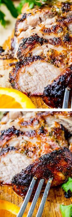 Cuban Mojo Marinated Pork (Lechon Asado) by thefoodcharlatan: A traditional Cuban roasted pork recipe that is very simple, yet packed with tons of flavor! There is nothing to this pork except an amazing marinade.