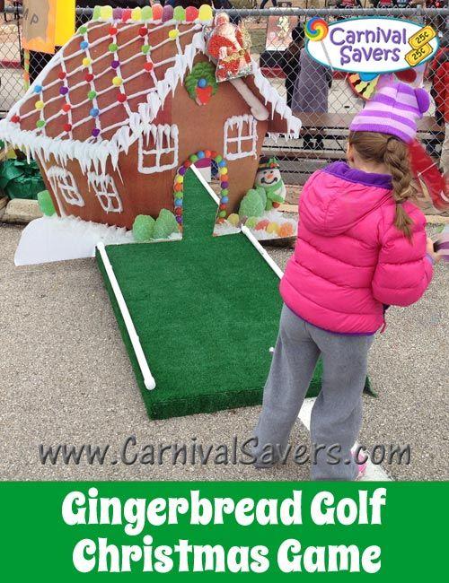 gingerbread golf fun christmas carnival game christmas ideas