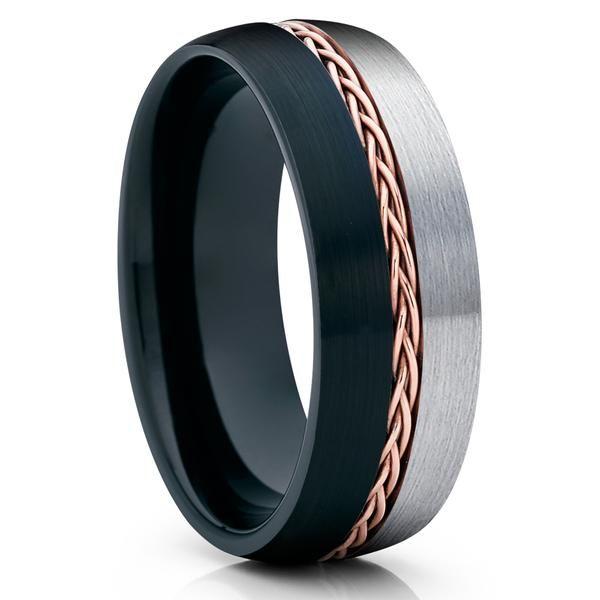 Anniversary Ring Men /& Women Tungsten Wedding Band 6mm Wedding Band Engraved Tungsten Carbide Tungsten Ring Black Tungsten Ring