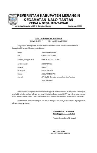 Surat Pernyataan Cerai Surat Inbox Screenshot