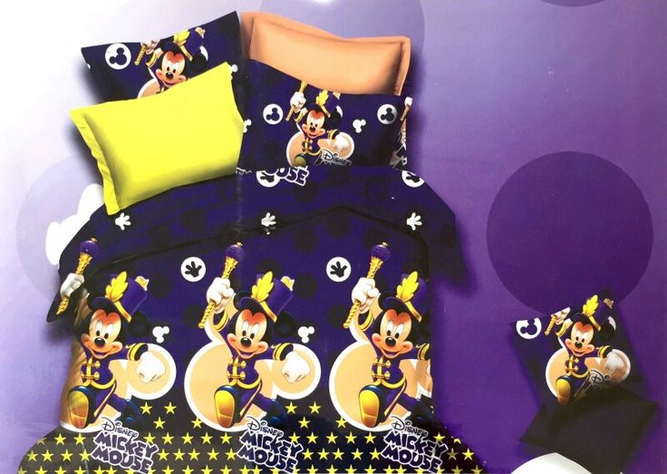 Mickey Mouse the Magician Bed Sheet Kids cartoon glace cotton bedsheet