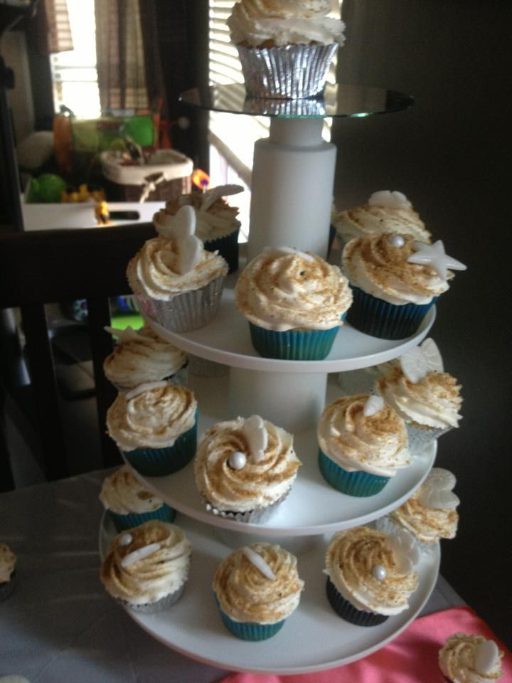 Beach Wedding Cupcakes Pictures