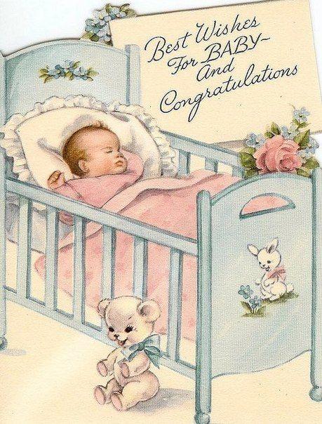 Открытка с рождением ребенка на английском