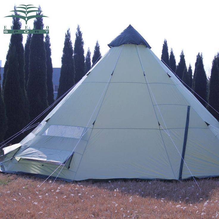 Large Indian Style Good Quality 10-Person Waterproof Anti-Wind Luxury Teepee Tent