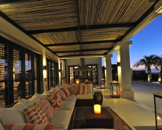 Tropical Design, Pictures, Remodel, Decor and Ideas  this would be a good treatment for the ceiling of our covered patio