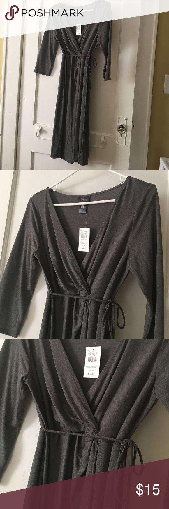 Maternity dress - long sleeve grey dress Never been worn- Maternity dress - long sleeve grey dress Dresses