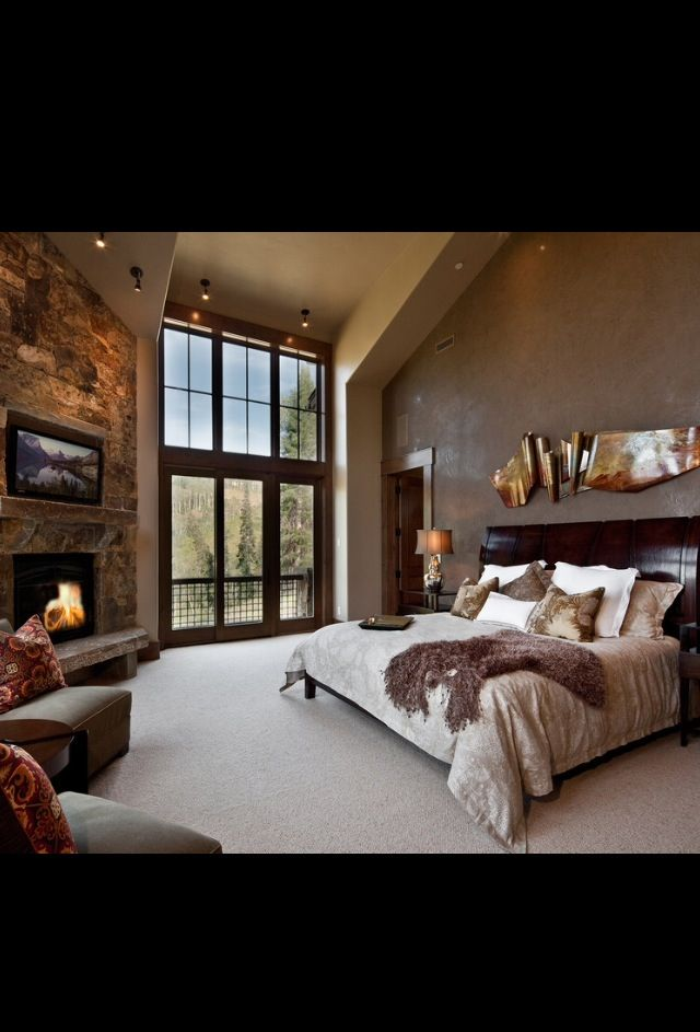 I love this bedroom! It makes me want to live up north in the cold...wait, did I just say that...