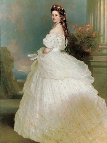 Empress Elisabeth of Vienna, Austria.  This woman's nickname was Sisi.  My Mom was reading her biography while prego w/ me.  Thus, my nickname...Sisi.