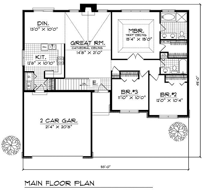 house plans with bedrooms together On ranch house plans with bedrooms together