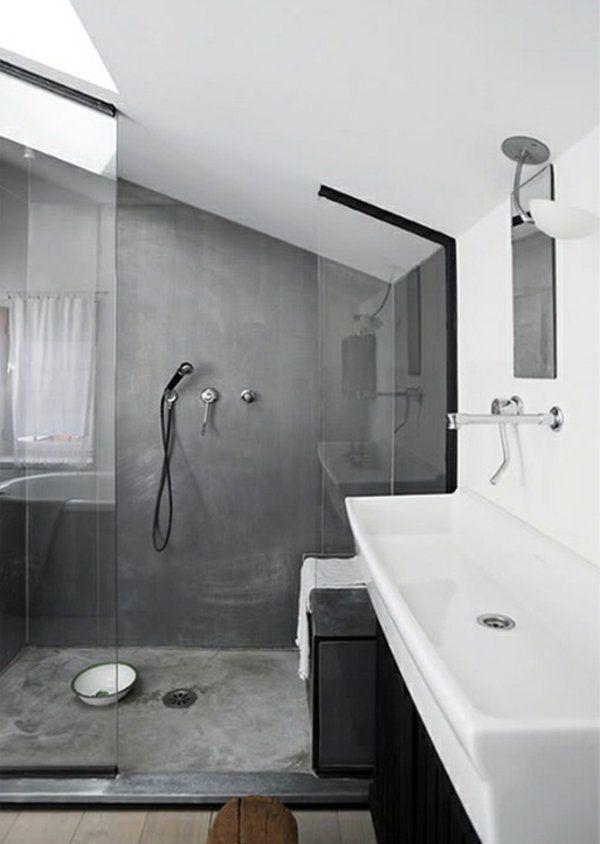 As 25 melhores ideias de bathrooms suites no pinterest - Salle de bain sous comble ...