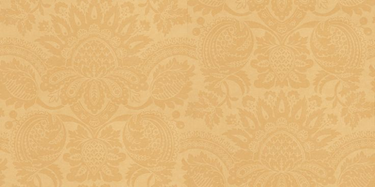 Pomegranate Saffron (ZCDW01001) - Zoffany Wallpapers - An elegant damask design in a traditional saffron shade of deep mustard yellow – a beautiful, sophisticated aesthetic for both contemporary and classic interiors. Additional colourways also available. Please request sample for true colour match.