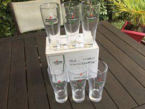 6 Verres Heineken Ellipse – 25 cl