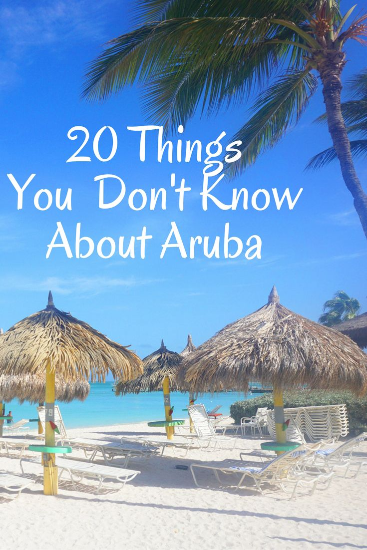 Planning a trip to Aruba? Here are 20 Things You Probably Don't Know About Aruba. Perfect list for anyone planning a trip to the Caribbean Island of Aruba. via @52perfectdays
