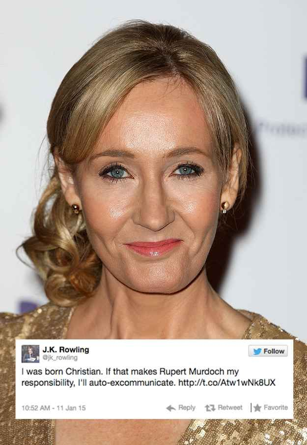 J.K. Rowling Had The Most Perfect Response To Rupert Murdoch's Anti-Muslim Comments On Twitter | BuzzFeed