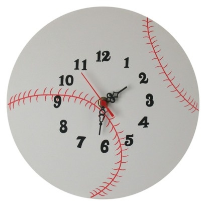 Baseball Wall Clock | Beds for kids | Pinterest