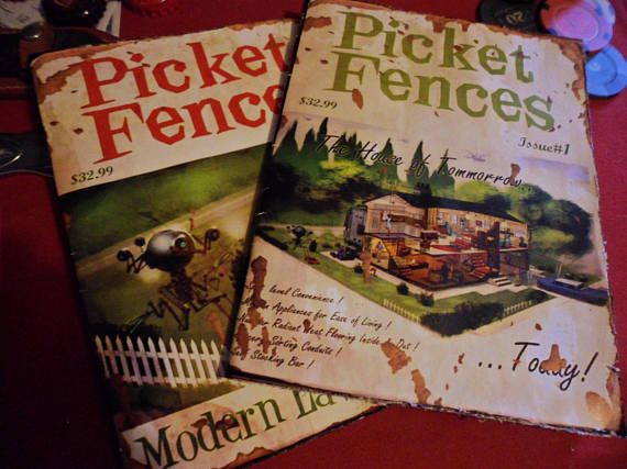 Pair Of Picket Fences Replica Paper Magazines Fallout 4 Torn Paper Paper Notepads Magazine Front Cover