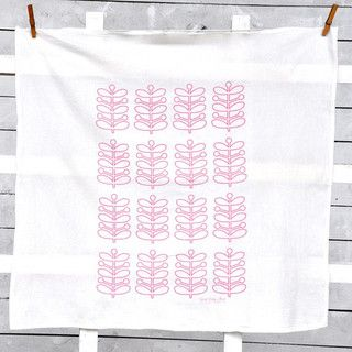 Pyrex Stems and Eyes Tea Towel Set by Fresh Pastry Stand - modern - dishtowels - by Etsy