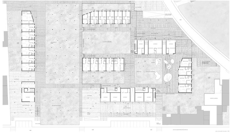 OPERASTUDIO - Project - Social housing in Switzerland - Ground floor #plan  #housing #Swiss #competition #floor #plan