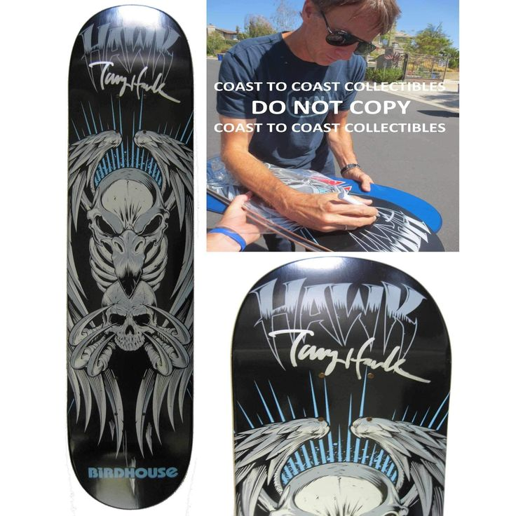Tony Hawk, Signed, Autographed, Birdhouse Skateboard Deck, A COA with the Exact Proof Photo of Tony Signing Will Be Included==