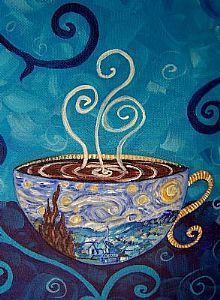 Van Gogh and coffee...can't go wrong with either  makes me think of a favorite place: Starry Nights Cafe on University Avenue