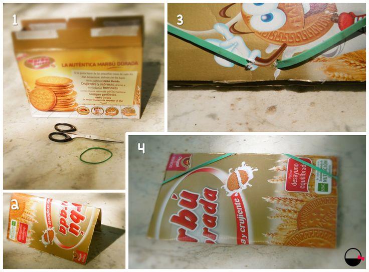 Cómo hacer una carpeta a partir de una caja de galletas
