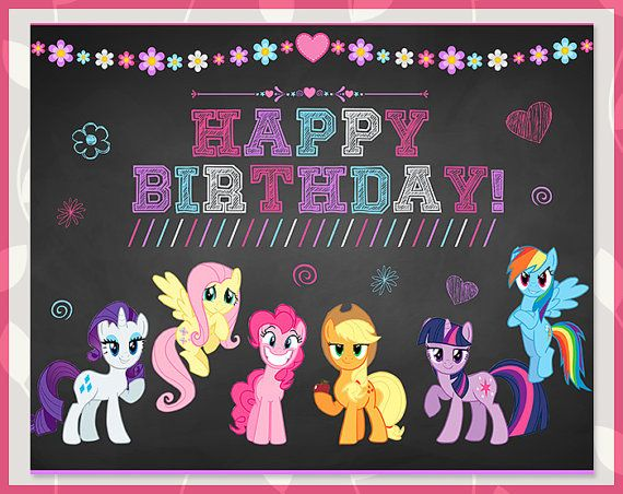 Do you have a big My Little Pony fan at home thats just craving a My Little Pony birthday party? Then heres an adorable way to wish them happy
