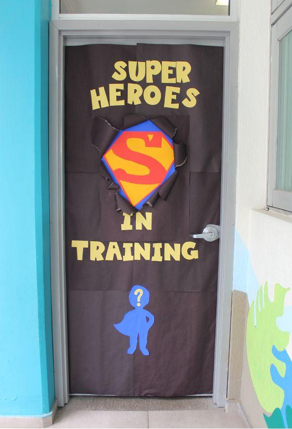 Decoración de puerta - Super Heroes