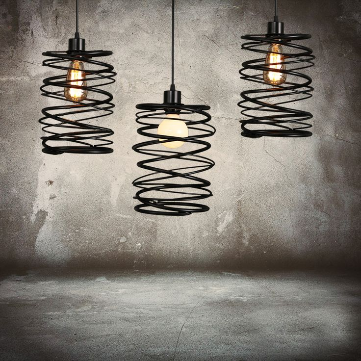 Buy American Country Stoving Varnishing Craftsmanship Wrought Iron Pendant Light 1 Light Matted Black Chandelier with Lowest Price and Top Service!