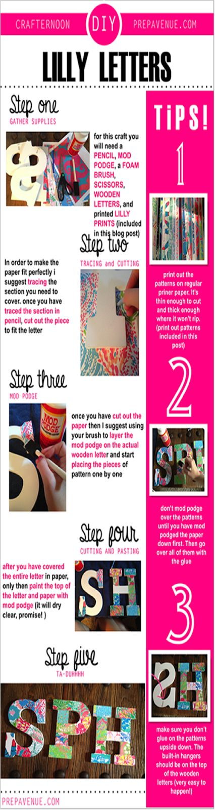 Step-by-Step Lilly Letters // PrepAvenue.com- #DIY #LillyPulitzer #Monograms
