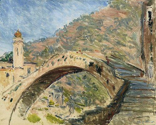 Dolceacqua, le vieux pont sur la Nervia (C Monet - W 884),1884.