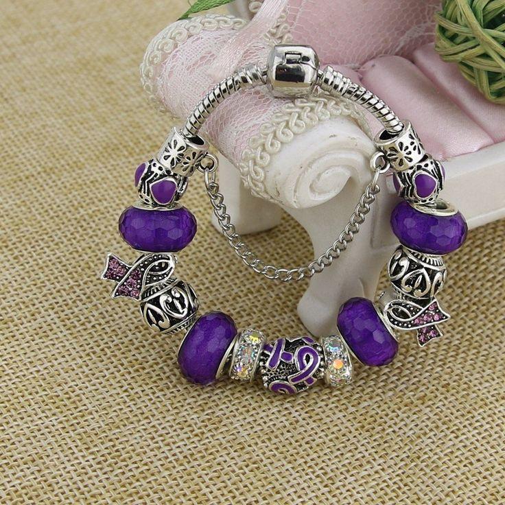 Handmade Fibromyalgia Awareness Charm Bracelet – Bella's Yard