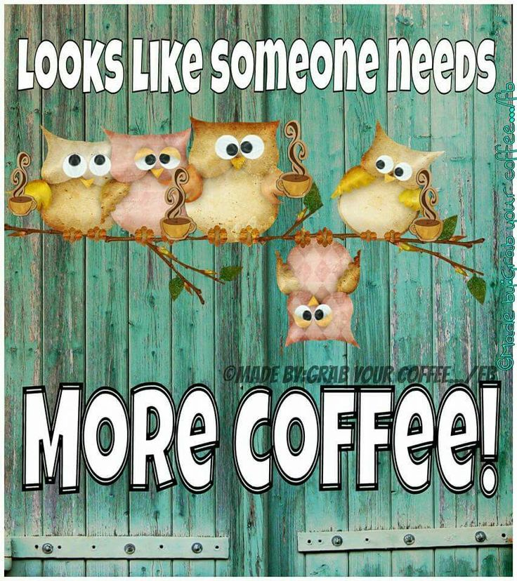 Good morning everyone :) Just a friendly reminder not to drink to much coffee, just shakily slowly put that cup down. OK?