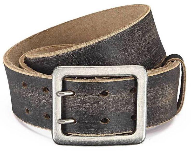 Herren Jeans Gürtel 5 cm breit - Gürtel für Herren aus Büffelleder Gürtel, massive Schnalle Nickelfrei, Herren Jeansgürtel Ledergürtel - Büffelleder Gürtel Herren