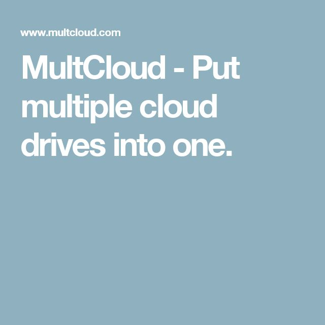 MultCloud - Put multiple cloud drives into one.  So far so good!  File transfer & sharing has been a breeze!!!  Glad I found this site. ~e